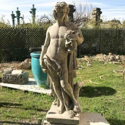 STATUE APOLLON RAISIN H130
